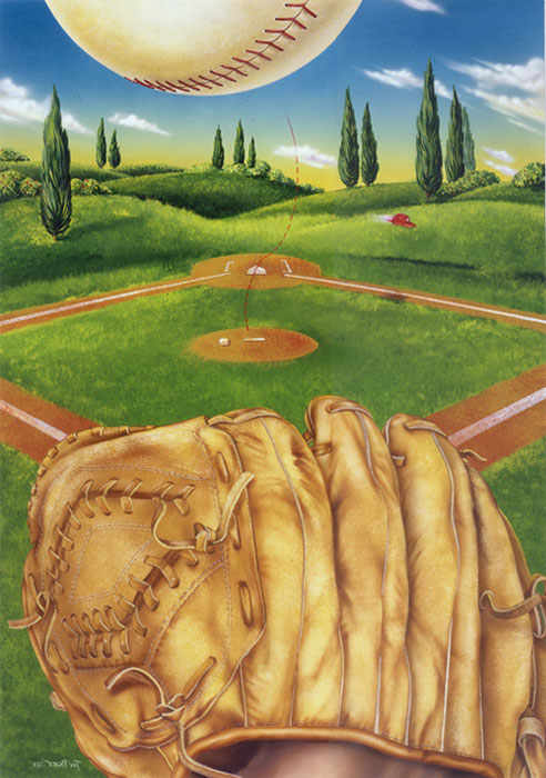 Baseball Glove Painting : Graphic illustrator boer and paintings